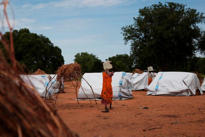 Camp for displaced people in the South Sudan state of Northern Bahr el Ghazal.