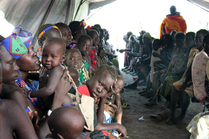 Refugees in Pibor, South Sudan