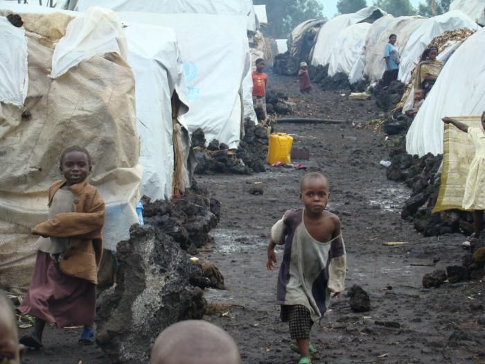 Children playing in South Sudan Refugees Camp
