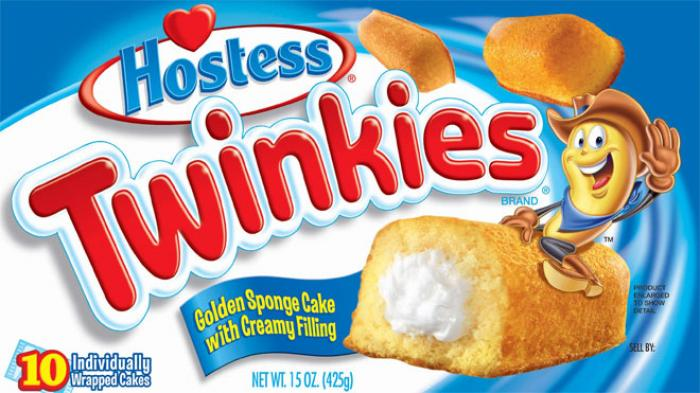 ALL THE RAGE: The new Twinkies box reveals the snacks have a net weight of 13.58 oz, down from a lar