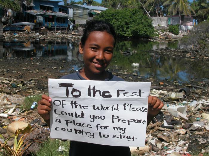 Pacific islanders are feeling the reality of sea level change.