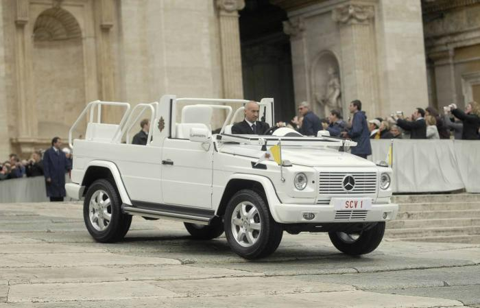 Pope Francis will travel in this vehicle as well.