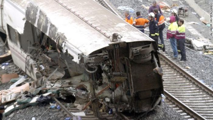 At least 77 people were killed after a high-speed passenger train derailed in northwestern Spain, in