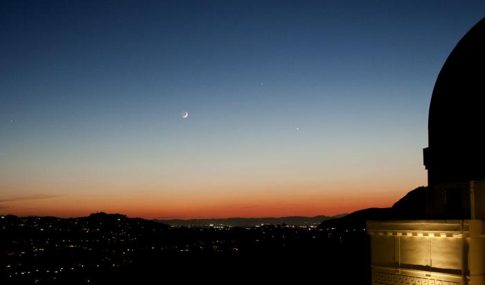 Venus and Jupiter over the Griffith observatory. In December, Venus is expected to be exceptionally