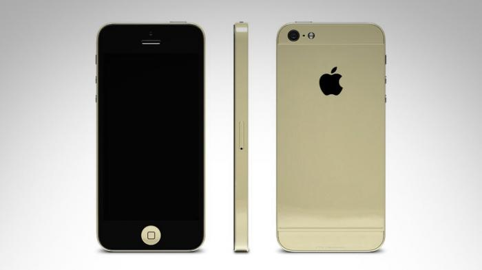 This image shows the iPhone 5S in its new gold or champagne color. The color is expected to do well