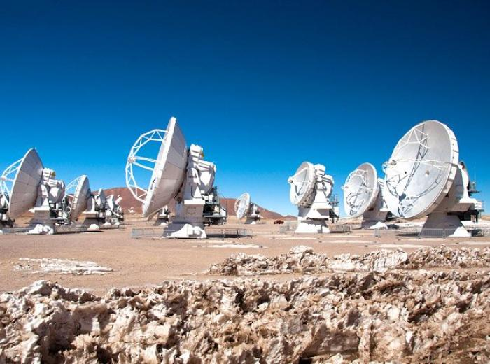 The Atacama Large Millimeter/submillimeter Array in Chile, South America.