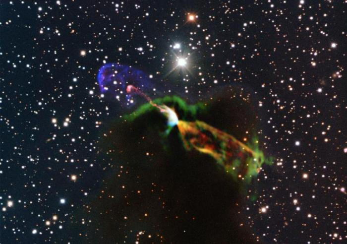 HHO 46/47 as imaged by ALMA.