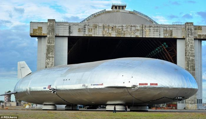The zeppelin is set to have its first full test flight, and will roll off the production line from m