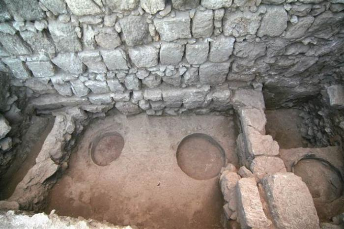 Three round pits served as ovens for the mansion