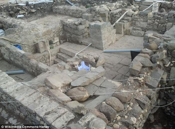 The ruins of the ancient synagogue where Christians and Jews may have worshiped together.