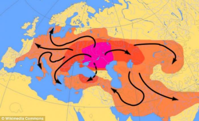 The Kurgan hypothesis is the most likely explanation for how culture and language spread across earl