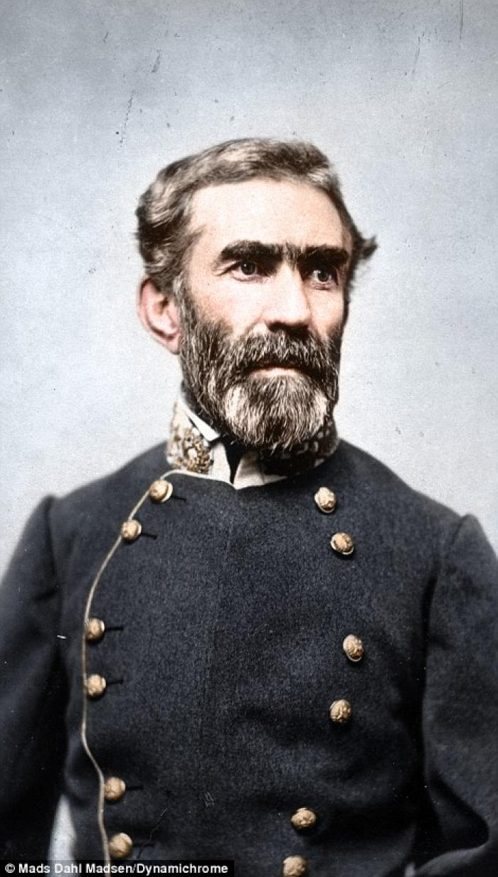 Confederate General Braxton Bragg who was regarded as moody, sickly, and infamously argumentative. H