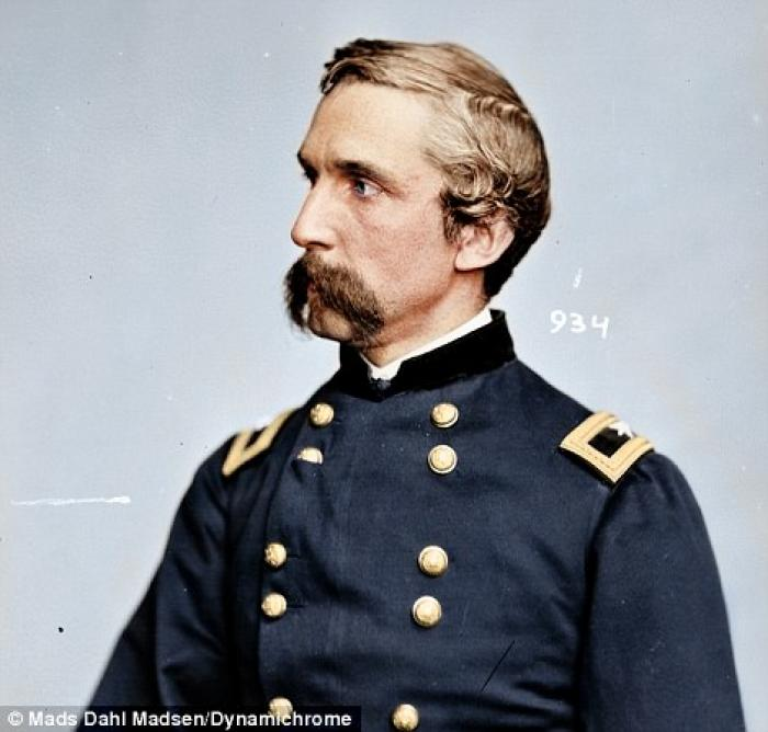 General Joshua Chamberlain, who made his name at Gettysburg. Chamberlain was (just) one of the comma
