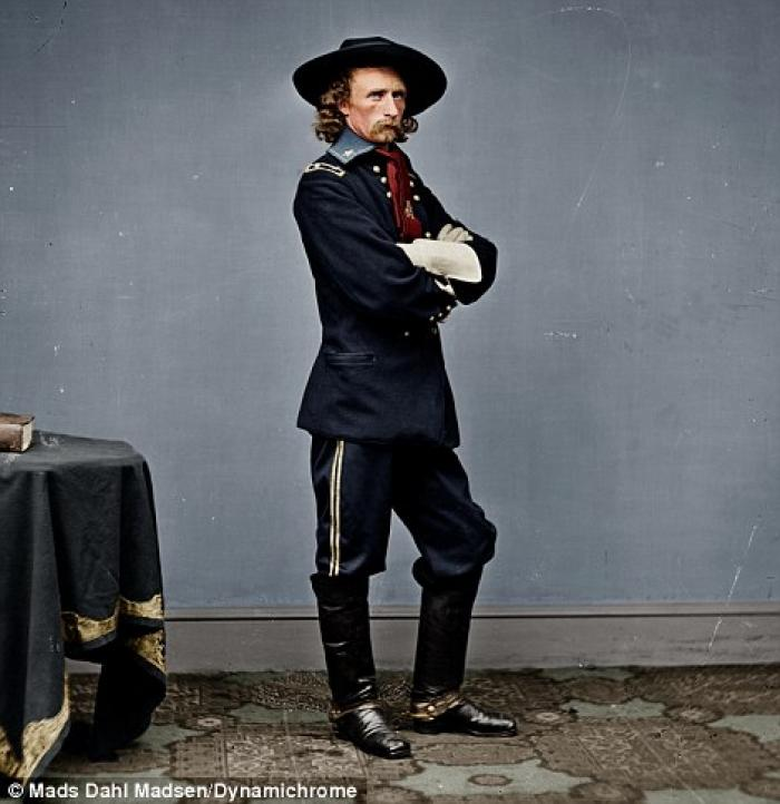 General George Armstrong Custer made his reputation as a young cavalry commander during the Civil Wa