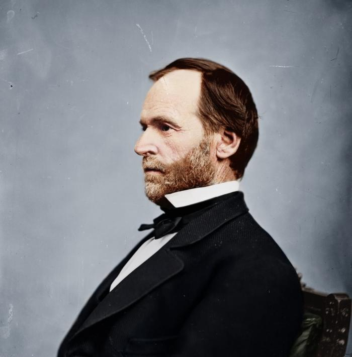 A personal friend of Grant, General William T. Sherman pioneered the modern total war approach in Ge