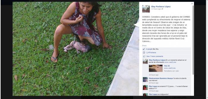 Eloy Pacheco posted this image to his Facebook where it went viral, bringing attention to the plight