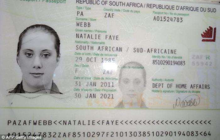 She had been living in South Africa under the alias of Natalie Faye Webb, an identity she stole from
