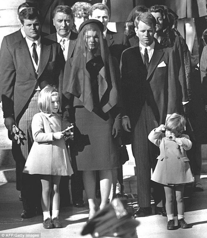 Robert Kennedy stood at Jacqueline during her husband
