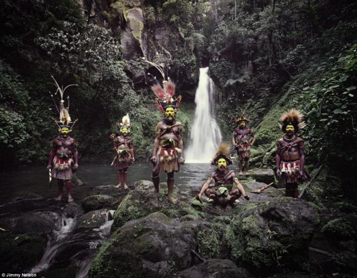 The Huli Wigmen are famous for their tradition of making ornamental wigs from their own hair. There