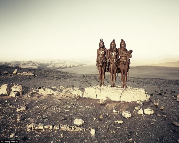The Himba are an ancient tribe of semi-nomadic herders, living since the 16th century in scattered s