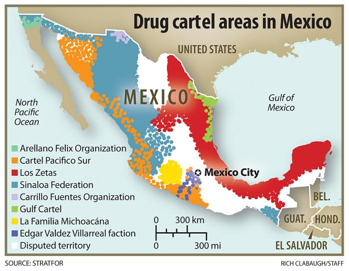 A map of the cartels