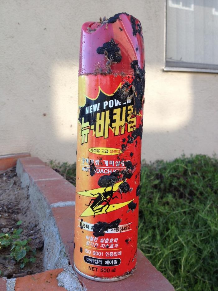 This can of bug spray could leak hazardous chemicals. People are warned to be careful if they see an