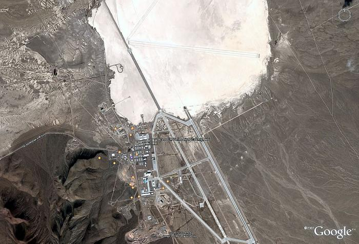 You can view Area 51 with Google, but it looks pretty mundane. Of course, they knew when the imaging