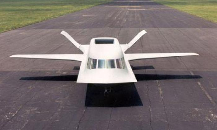 Codenamed TACIT BLUE, this craft was flown at Area 51 in 1982 and was used to demonstrate stealth te