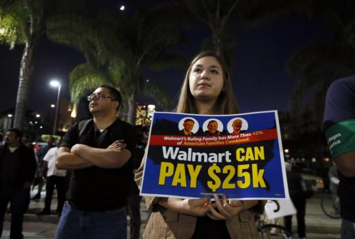 WalMart employees want $25k per year for their labor.