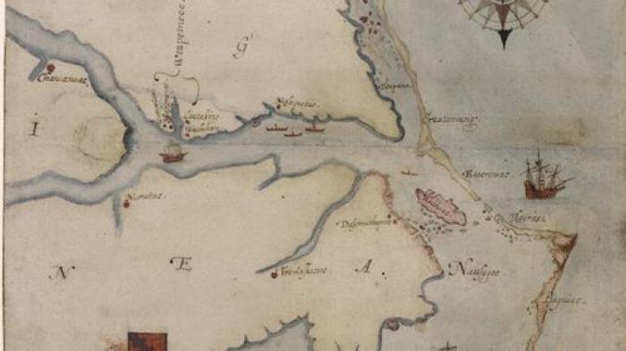 The Virginea Pars map.