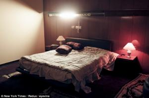 This is the bedroom in Khadafi