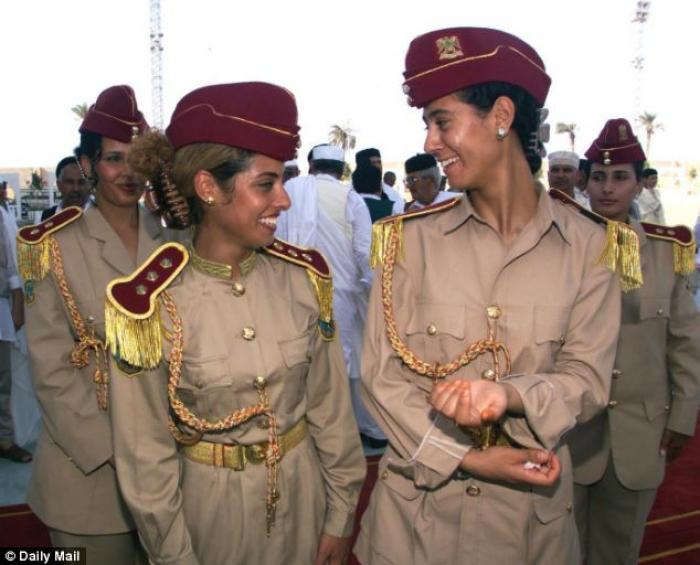 Khadafy had a private all-female guard, some of whom he allegedly also abused, having