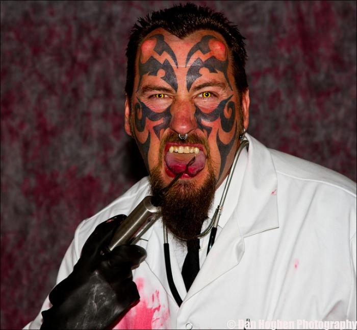 "Diablo Delenfer, a former security guard and self-described ""body modification artist"" is now intent"