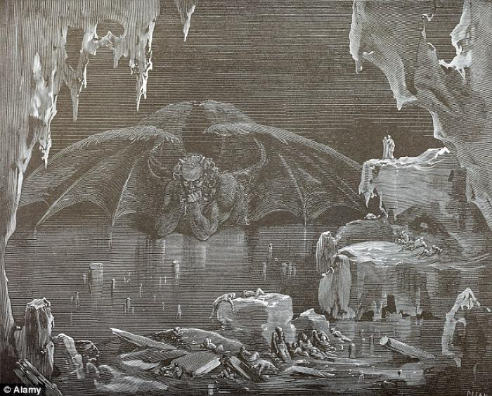 A classical depiction of Lucifer by Gustave Dore.