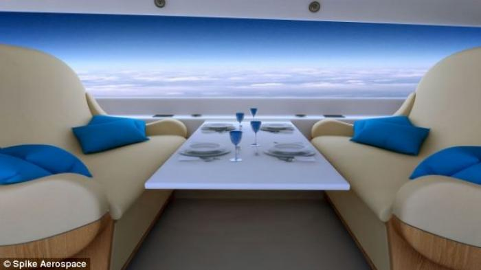 Cameras surrounding the entire aircraft will beam panoramic views to the cabin screens. Passengers w