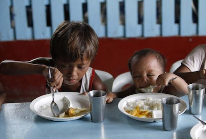 Hundreds of thousands of kids are fed by the Church around the world, but Catholics still have work