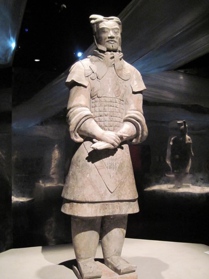 This terracotta warrior is thought to represent a general who would have commanded the footsoldiers.