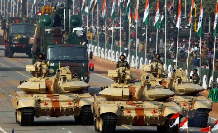 India continues to increase military spending and imports of arms, mostly from Russia.
