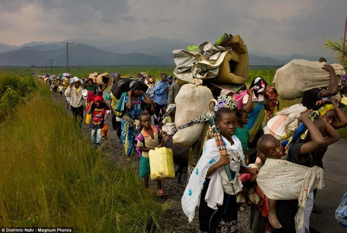 Refugees flee an outbreak of violence in the remote, eastern part of the country.