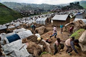 Children play in sprawling refugee camp. Life in such places has become routine, possibly permanent.