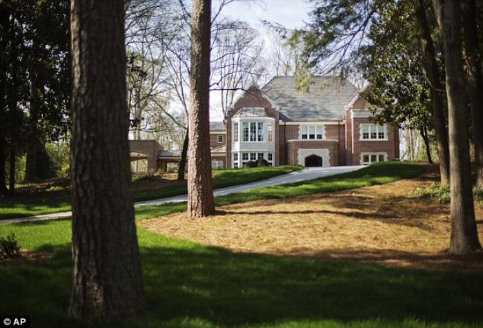 The new $2.2 million mansion that is the residence of Atlanta Archbishop Wilton Gregory stands in th