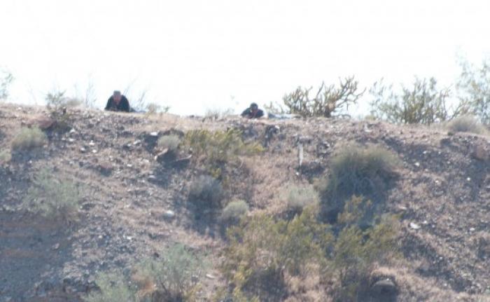 Snipers take aim at the Bundy ranch after they were photographed.