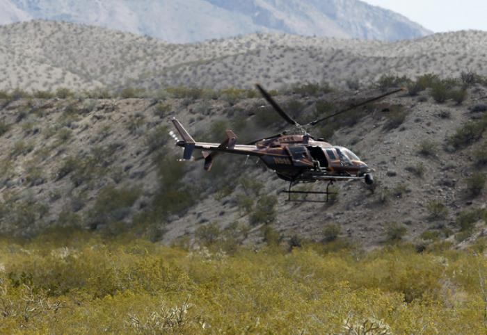 A helicopter over the ranch.