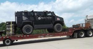 The feds are well equipped with armored vehicles. There should be no question --these are intended f