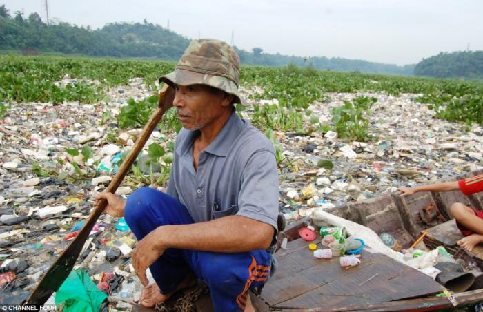 Once a tropical paradise, the Citarum in Java, Indonesia, is now said to be the dirtiest river in th