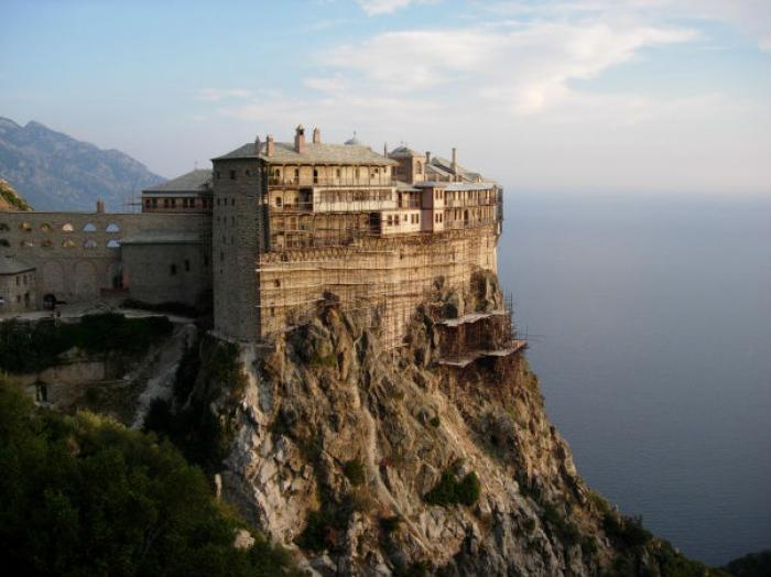 "Only males are allowed entrance into Mount Athos, which is called ""Garden of the Virgin"" by monks, f"