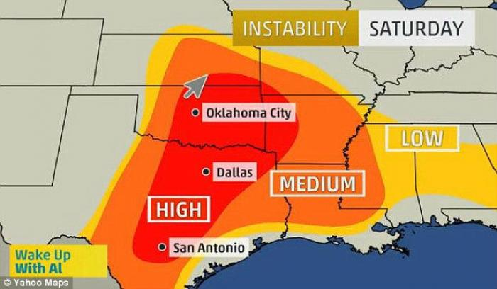 A powerful storm system, which may bring historic levels of tornadoes, is set to travel across the s