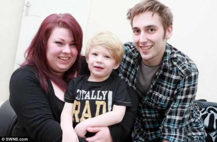 Toddler Carson Ayre was born with transposition of the great arteries, a life-threatening condition