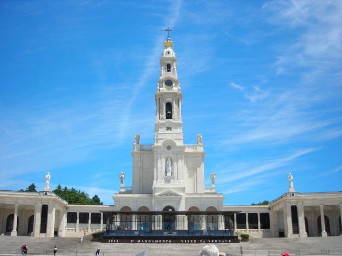 The Sanctuary of Our Lady of Fatima is built on the spot where three children saw a vision of the Vi