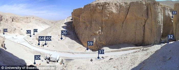 This is a panorama view over the area in the Valley of Kings investigated by the University of Basel